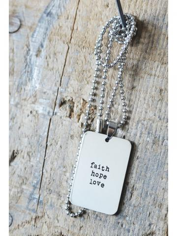 Stålhalsband faith hope love